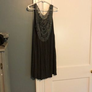 Casual dress with lace back